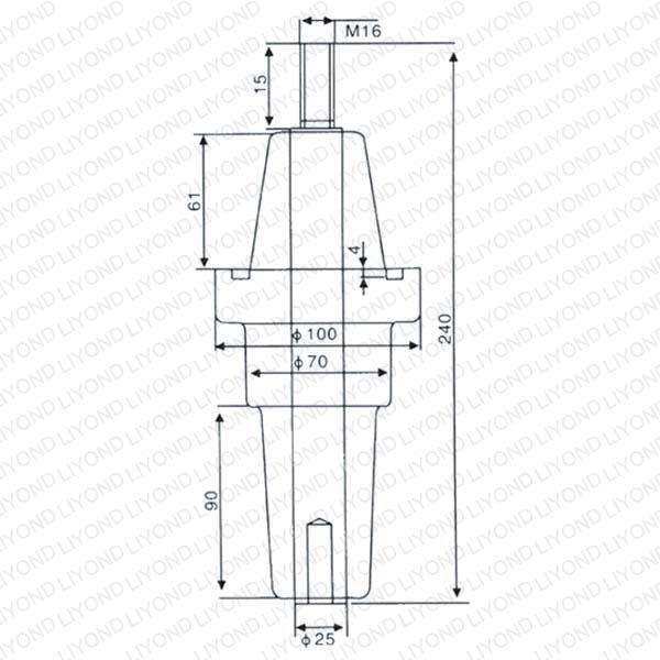 630A绝缘单通套管DTGZ-15/240 LYC167
