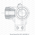 伞齿轮装配5XS.245.001.4接地开关中部正装时(即左操)