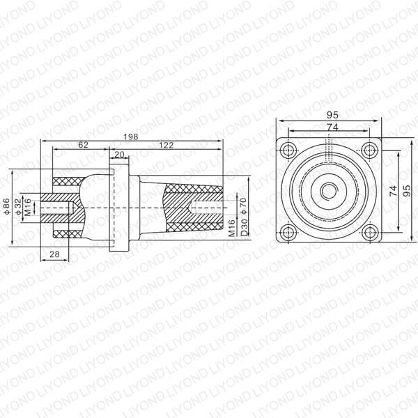 LYC169 SF6-24绝缘套管座