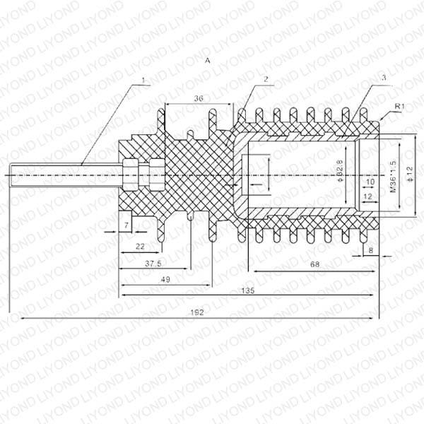 黑色高压绝缘杆 LYC176