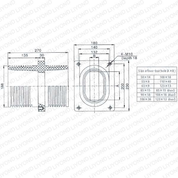 开关柜12kv接触套管LYC149
