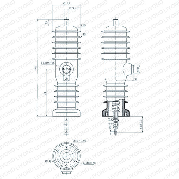 drawing Solid seal pole column for vacuum circuit breaker WEEP-12/630-20