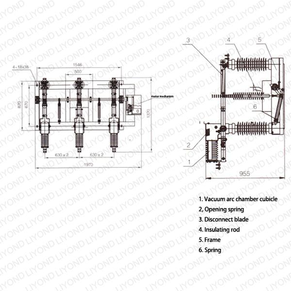FZW32-12 户外高压隔离真空负荷开关