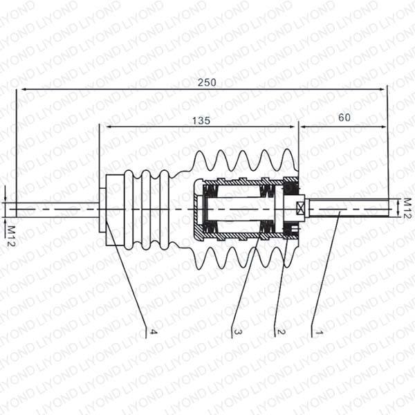 真空断路器绝缘杆 LYC174 for VCB