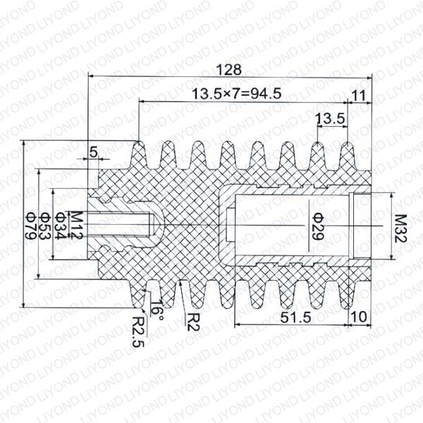 630-1250A  LYC171 高压固封绝缘杆