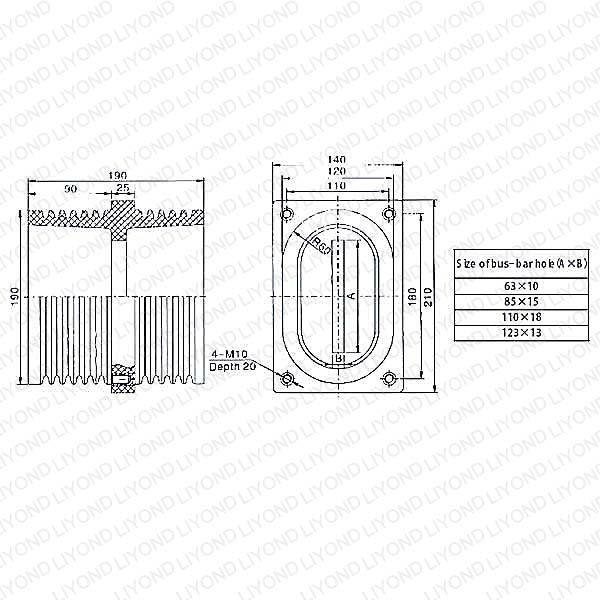 高压环氧树脂绝缘穿墙管LYC145