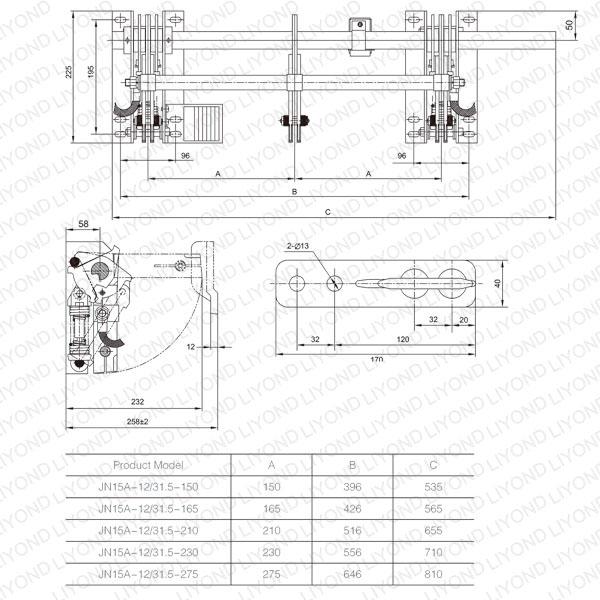 JN15A 12 交流高压户内接地开关