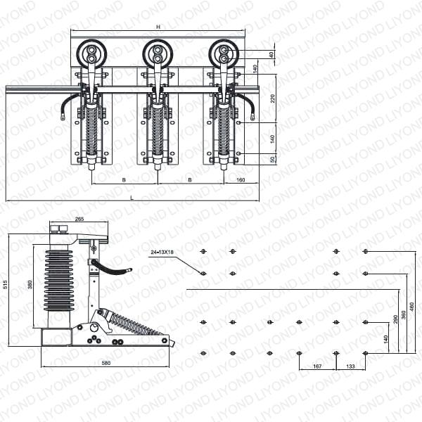 JN22-40.5/31.5 户内高压接地开关