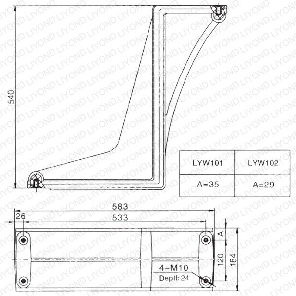 LYW101-102开关柜弯板