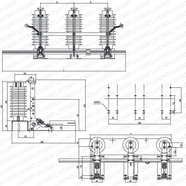 JN22B-40.5/31.5 交流户内高压接地开关