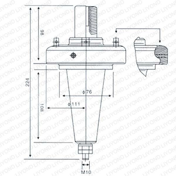 LYC168高压250A美式套管座