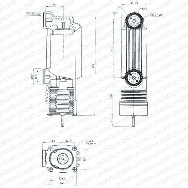 24kV EEP-24/1600-31.5 EEP-24/1250-31.5 固封极柱