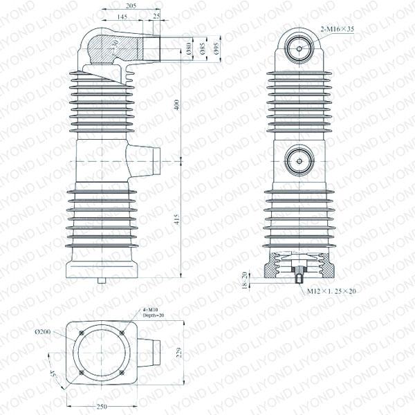 40.5kV EEP-40.5/2500-31.5 EEP-40.5/2000-31.5 固封极柱