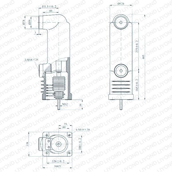 12kV EEP3-12/1600-40 EEP3-12/1250-40 固封极柱