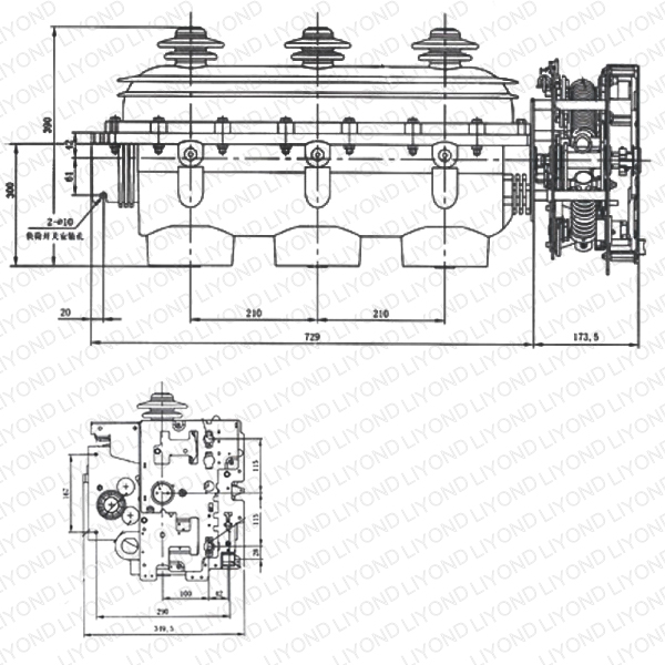 FLN36-12 SF6户内高压负荷开关