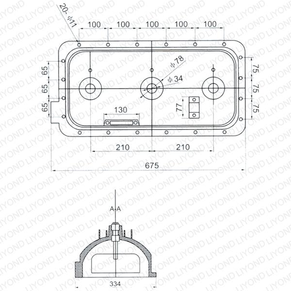SF6-22 load break switch lower housing