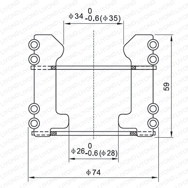 Spring tulip contact for vacuum circuit breaker LYA106