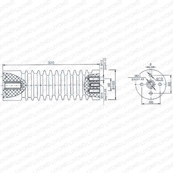 LYC138 40.5KV绝缘子