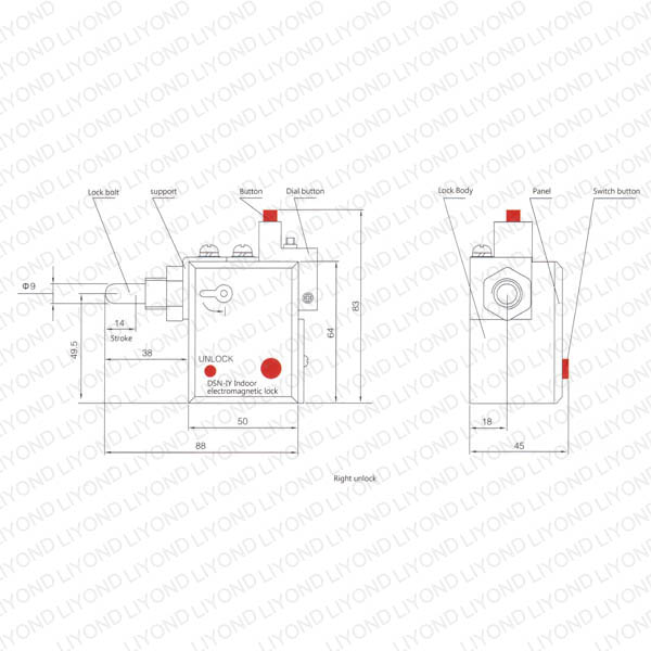 DSN-I 型户内电磁开关机构锁